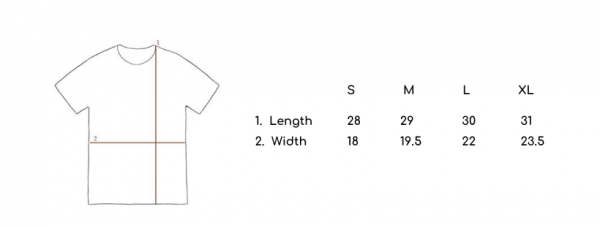 Men's T-shirt size chart